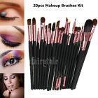 Kit Set Professionale 20 Pennelli Makeup Trucco con Custodia di Pelle Pennello