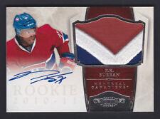 2010 Dominion P.K. Subban rookie autograph 3 color patch /99 very rare RC
