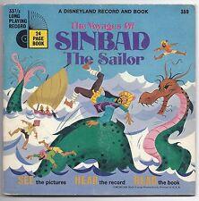 Disneyland Book & Record THe Voyage of Sinbad The Sailor 33 13 RPM