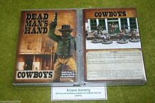 DEAD MANS HAND COWBOYS figure set for Old west Skirmish games 28mm