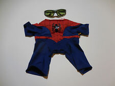 Build A Bear Boys 2Pc Spiderman Costume Body Suit & Green Glasses wSpider