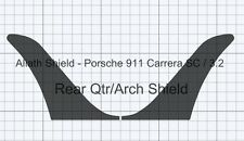 Porsche 911 SC / 3.2 BLACK TEXTURED Stone chip guard Protection Decals Foils