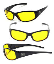 Night Driving Mens Choppers Bikers Sport Motocycle Sunglasses - Yellow C24 Cross