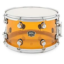 "Natal Arcadia 14"" x 8"" Orange Transparent Acrylic Snare Drum"