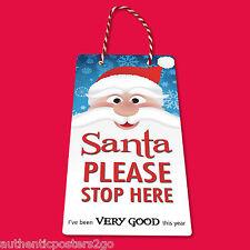 SANTA STOP HERE Door Hanger kids xmas gift magic tradition