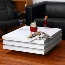 Wohnzimmertisch Couchtisch Tisch Glastisch Designertisch weiß Beistelltisch