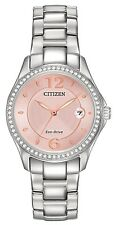 Citizen FE1140-86X Women's Eco Drive Stainless Steel Silhouette Crystal Watch