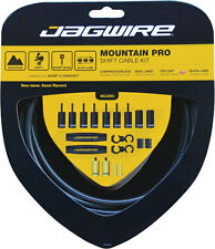 JAGWIRE MOUNTAIN PRO BLACK CARBON MTB SHIFTER SHIFT DERAILLEUR CABLE KIT..