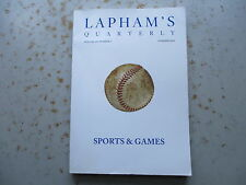 Lapham's Quarterly - Vol. 3 No. 3 Issue - Summer, 2010 - Sports & Games