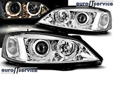 NEUF 2 FEUX AVANT PHARES LAMPS LPOP31 OPEL ASTRA G 1997-2004 ANGEL EYES CHROME