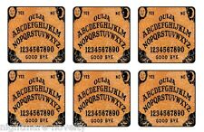 "OUIJA BOARD GAME COASTERS 1/4"" BAR & BEER SET OF 6"