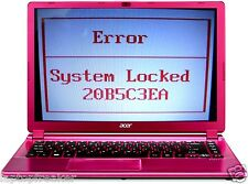 ACER ERROR SYSTEM Locked Unlock Key Hint Number Password unlock Passwort löschen