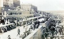 Bridlington New Sea Front sepia RP old postcard used 1905 Spurr's Series