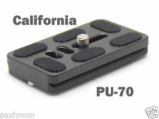 PU-70 Quick Release Plate For Benro B0 B1 B2 J1 N1 Tripod ball head Arca Swiss