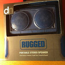 Design Nation Portable Speaker System Rugged Style Mini Stereo New (A)