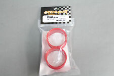 RC Car 1/10 DRIFT WHEELS RIMS Adjustable Offset  3mm-6mm-9mm -RED LIP -4 RINGS