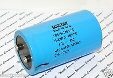 1pcs - MALLORY 1500uF 450V Screw Terminal Capacitor - CGS152T450X5C - Used
