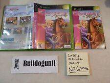 Barbie Horse Adventures Original Xbox Case & Manual Only NO Game
