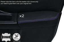 PURPLE STCH 2X FRONT DOOR ARMREST LEATHER COVER FOR SUBARU IMPREZA WRX STI 01-04