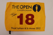 Tom WATSON SIGNED Autograph AFTAL Team USA Ryder Cup 2012 Open Golf Flag