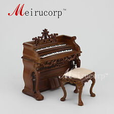 Dollhouse 1/12 Scale Miniature furniture Hand Carved classical Piano and stool