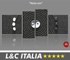 Relax zen - 4 QUADRI MODERNI INTELAIATI ARREDO STAMPA DIGITALE BILDER DESIGN XXL