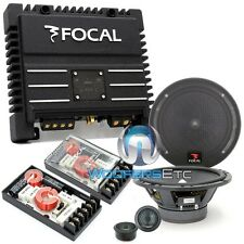 "pkg FOCAL 165A1 CAR AUDIO 6.5"" COMPONENT SPEAKERS + SOLID2 2-CHANNEL AMPLIFIER"