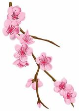 Beautiful Vintage Looking Cherry Blossoms Flowers Flower Floral Temporary Tattoo