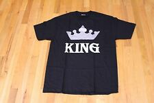 ALSTYLE APPAREL KING CROWN GRAPHIC TEE BLACK SIZE LARGE NEW