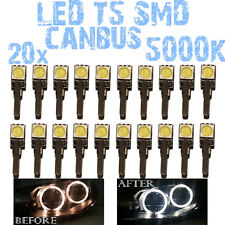 N° 20 LED T5 5000K CANBUS SMD 5050 Faróis Angel Eyes DEPO FK Opel Astra F 1D2 1D