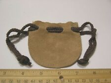 "Leather pouches/purse 3 1/4 x 3"" w/drawstring soft real leather 2 per lot"