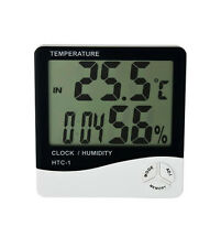 Digital Room Thermometer  Hygrometer Humidity Indicator Meter with table clock
