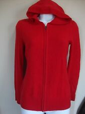 OLD NAVY 100% CASHMERE ZIP FRONT HOODED CARDIGAN SWEATER WOMEN'S S