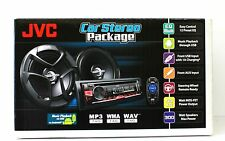 "JVC KD-PKR460 PACKAGE Single Din Car Stereo + 6-1/2"" 2-Way Coaxial Speakers"