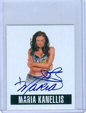 """MARIA KANELLIS """"SP AUTOGRAPH CARD #A-MK1"""" LEAF ORIGINALS WRESTLING 2014 WWE"""