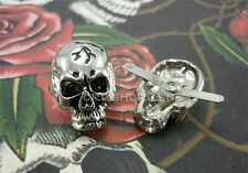 5pcs SKULL Studs Spots Punk Rock Leather Craft DIY Shoes Bags Purse Biker S151