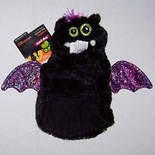 NWT Plush Bat Costume for Dogs Dog Black Purple XL X-Large Halloween