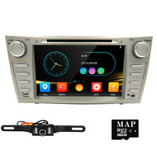 "HD 8"" Car DVD Player Radio Stereo GPS Bluetooth for Toyota Camry 2007-2011+ Cam"