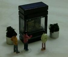 N/SCALE  250 GALLON FISH TANK AQUARIUM BLACK (B) WITH DETAILS.. (●_●).(●_●)..