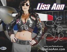 Lisa Ann Signed 8.5x11 Photo BAS Beckett COA XXX MILF Porn Star Poster Autograph