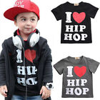 Toddler Kids Baby Boys Girls Print Long Sleeve T-shirt Tops Tees Summer Clothing