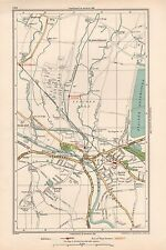 1933 Londres Carte-Horton, Staines, Hythe, stanwellmoor, Thorpe Lea