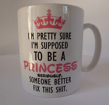 Princess Funny Design Novelty Gift Idea Coffee Tea Ceramic Mug Present Santa