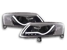 Coppia Fari Fanali Anteriori Tuning Dayline Luci Diurne Audi A6  4F 04-08 nero