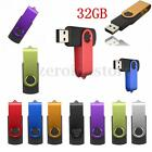 7 Colors 32GB USB 2.0 Flash Drive Memory Stick Storage Thumb Pen Folding U Disk
