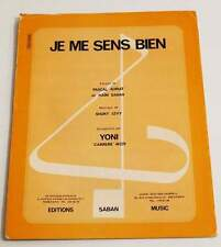 Partition vintage sheet music YONI : Je me Sens Bien * 70's Shuky Levy