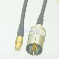RG174 13CM RF pigtail IEC PAL DVB-T TV female jack pin to MCX male Cable