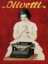 COMMERCIAL ADVERT OLIVETTI TYPEWRITER VINTAGE ITALY POSTER ART PRINT BB1956A