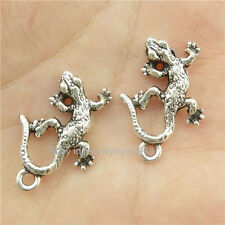 15685*35PCS Silver Vintage Alloy Animal Lizard Pendant Charm Jewelry Antique