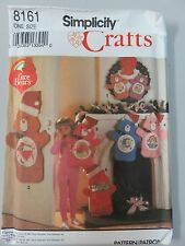 1992 Simplicity 8161 Care Bears Stockings Wreath Card Holder-Uncut W/Transfers